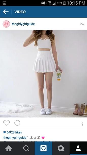 dda0ac6d12 skirt, cute skirt, fashion, tumblr outfit, tennis skirt - Wheretoget