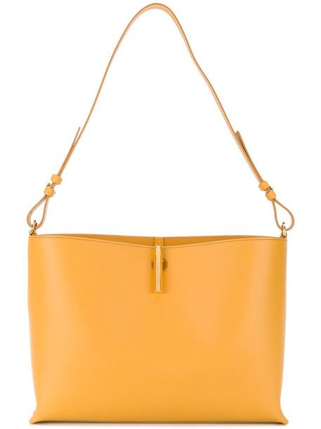 women bag shoulder bag leather yellow orange