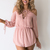 Cross Paths Playsuit in Dusty Pink - Black Swallow Boutique