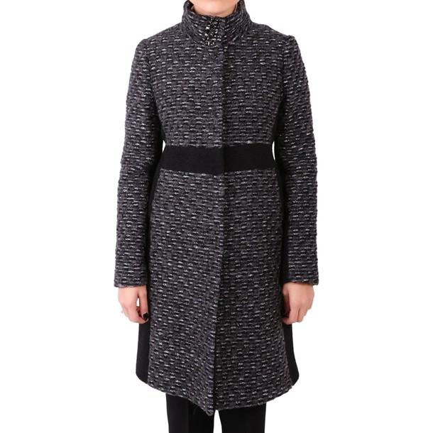 Blugirl coat wool silver black grey