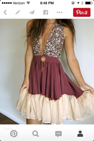 dress boho dress jewels