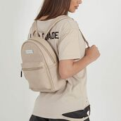 bag,maniere de voir,backpack,beige,leather,mini backpack,fashion,accessories,style,trendy