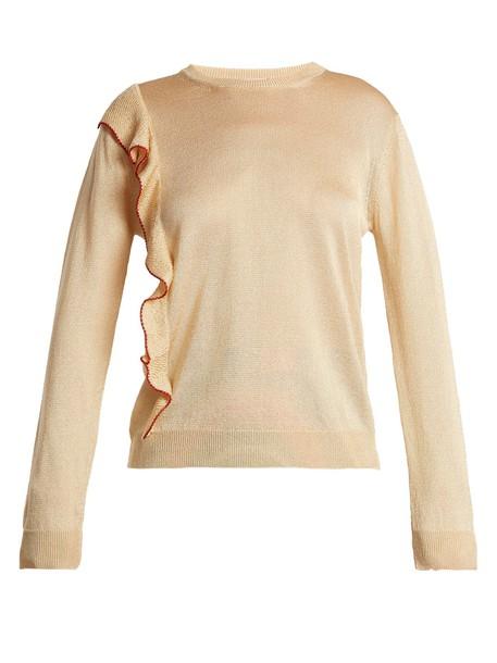 Marco De Vincenzo sweater ruffle light gold