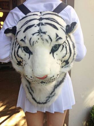 bag tiger face head bag tiger head sweet cool tiger black and white lovely cool bags blue eyes