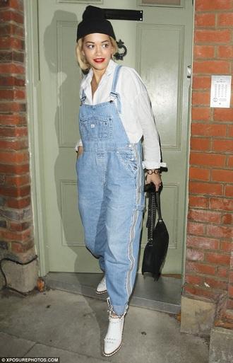 jeans denim oversized denim overalls washed out blue baggy. oversized