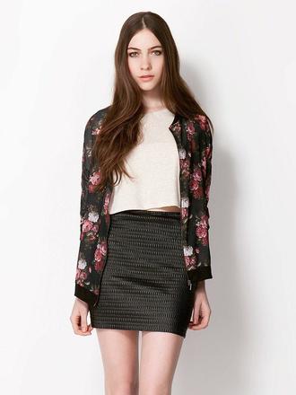 jacket cute floral print jacket women's coat