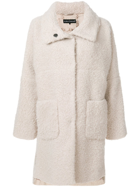 Luisa Cerano coat oversized coat oversized women nude cotton