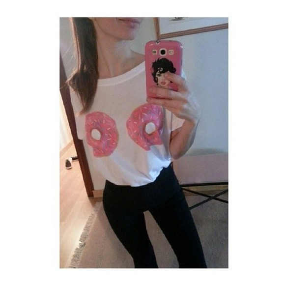 donut t-shirt funny boobs