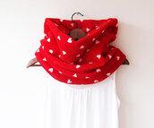 scarf,winter scarf,heart scarf,heart,red,neckwarmer,infinity scarf