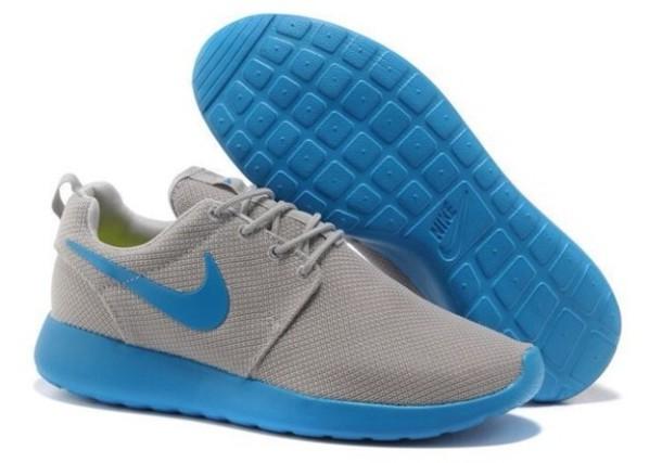 da4cc4b8657a shoes blue grey nike nike running shoes nike roshe run swag swag dope  summer grey
