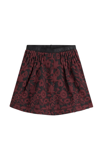 skirt mini skirt mini jacquard red