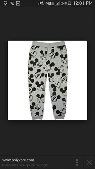 pants mickey mouse joggers