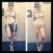 underwear,yankees,bra,tank top,top,chill,summer,baseball,shorts,jordans,sneakers,blue,white,new york city