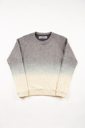 sweater,grey,tie dye,ombre,dip dyed,jumper,white,clothes