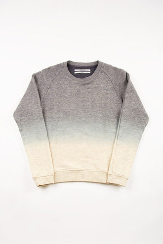 sweater grey tie dye ombre dip dyed jumper white clothes
