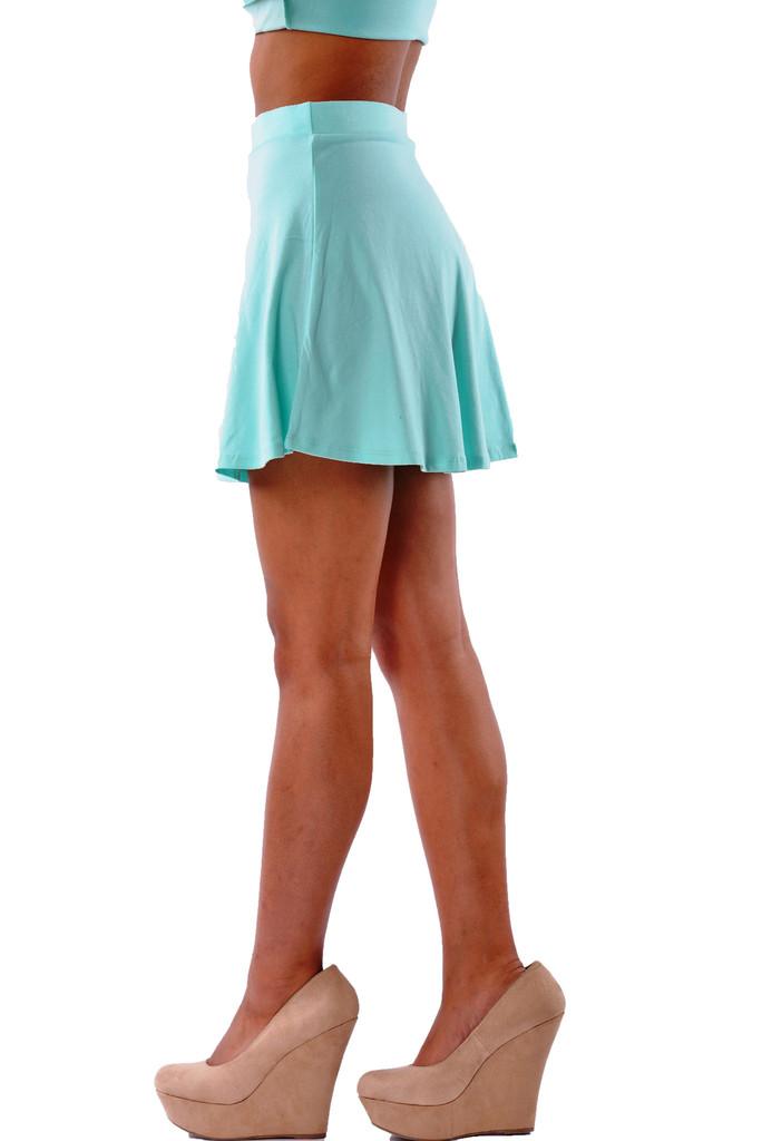 Mint Skater Skirt | Affordable Junior Clothing & Plus Sized Dresses | Shimmer