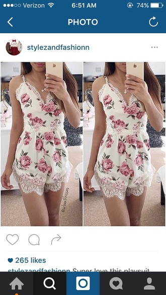romper lace dress top lace dress lace romper floral floral dress cute dress shorts romper short dress white romper white lace romper floral romper flowers outfit summer outfits boho dress boho