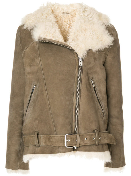 Iro jacket shearling jacket fur women brown