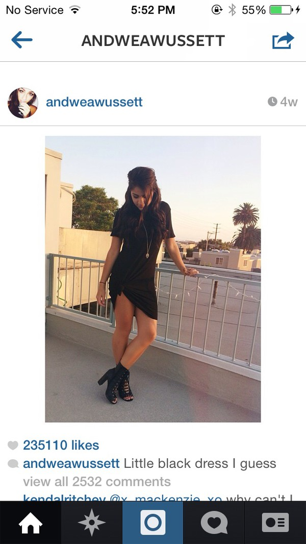black dress andrea russett black dress dress