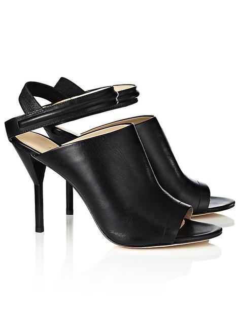 sandals leather black black leather
