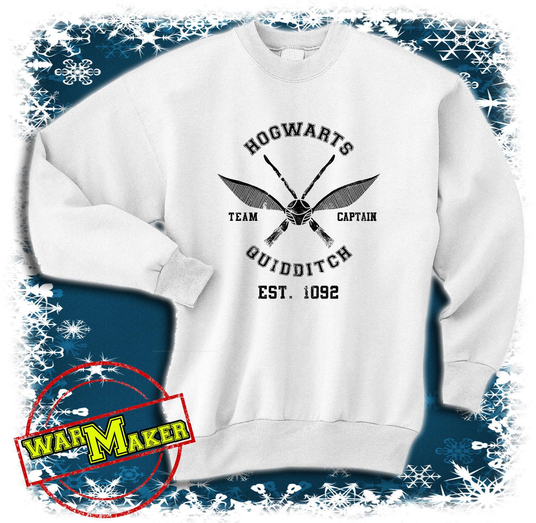Hogwarts quidditch sweatshirt hogwarts quidditch shirt harry potter shirt sweater hgw
