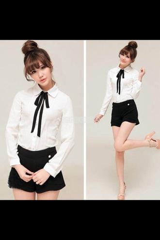 blouse white vintage chic fashion preppy peter pan collar