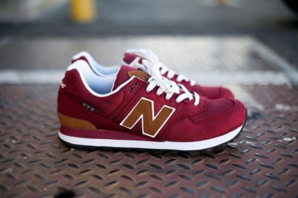 shoes burgundy new balance