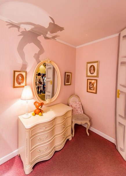 Pajamas lamp peter pan holiday gift home decor home stickers lifestyle kids room wall - Home decor kids ...