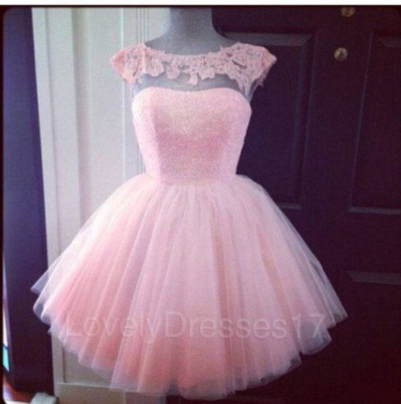 ball gown homecoming dress tulle sheer neckline cap sleeves girls homecoming dress