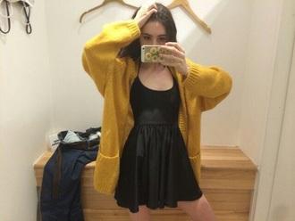 dress black black dress spaghetti strap black skater dress