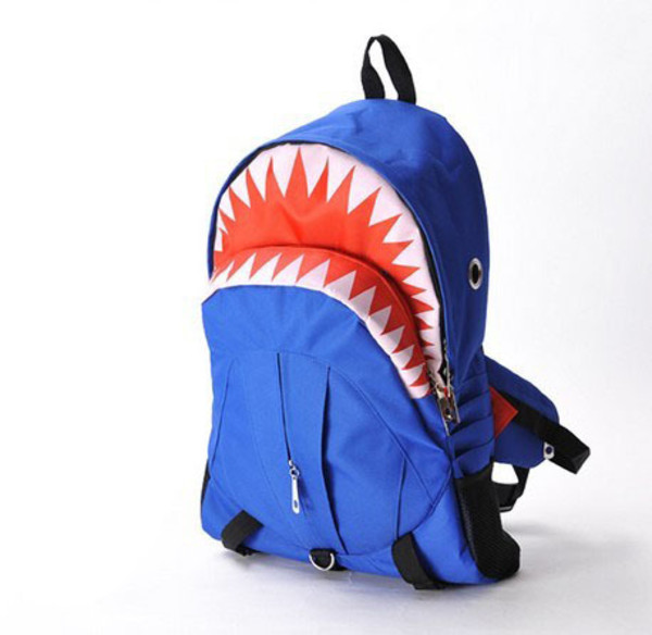 bag backpack blue shark