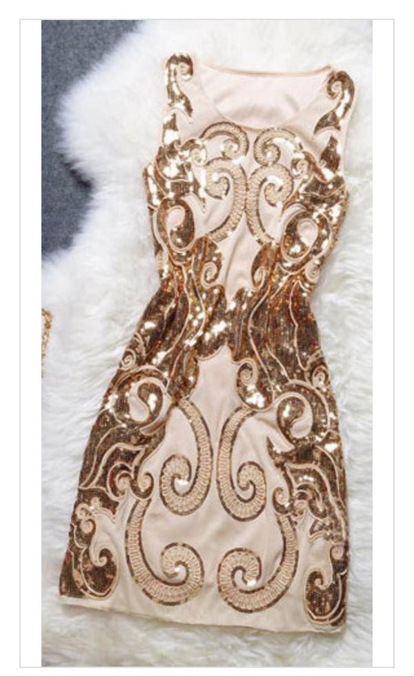 Gold Sequin Cocktail Dress Dress Gold Sequins Gold Dress