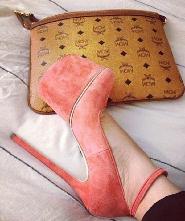 shoes peaches high heels hot stilettos high heels bag