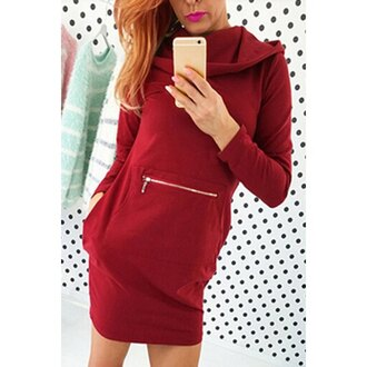 dress red hoodie rose wholesale winter outfits winter sweater streetwear casual