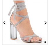 shoes,heels,perspex,cute,grey,high heel sandals,strappy heels,grey strappy heels,fashion,style,thick heel
