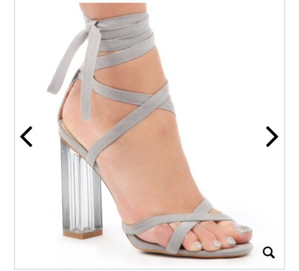 578278bbf8e shoes heels perspex cute grey high heel sandals grey strappy heels grey  strappy heels fashion style