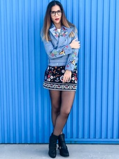 jacket,sammydress,biker jacket,biker,leather,leather jacket,blue,birds,fashion toast,fashion,fashionista,fashion and style,fashion addict,fashion inspo,blogger,blogger chic,fashion blogger\,blogger   fashionista,skirt,print,outfit,outfit idea,fall outfits,ootd