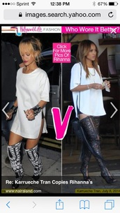 white shirt,top,rihanna top karrueche top,t-shirt,karrueche side slit tshirtt dresss