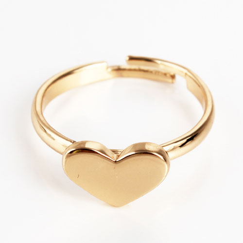 New Fashion Silver And Gold Alloy Simple Heart Shape Rings [ 1 pack contains 3 products ] - DualShine