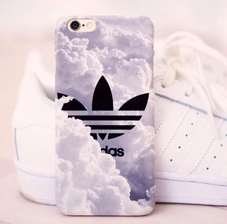 phone cover phonecase iphone adidas clouds iphone white black