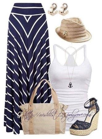 Maxi Navy Blue Skirt - Shop for Maxi Navy Blue Skirt on Wheretoget