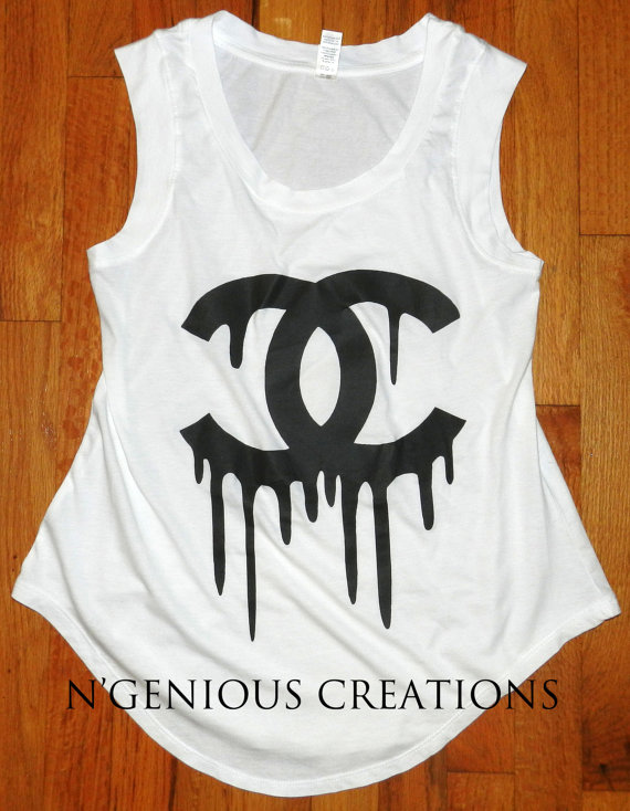 Women's white double c tropft fashion tank von ngeniouscreations