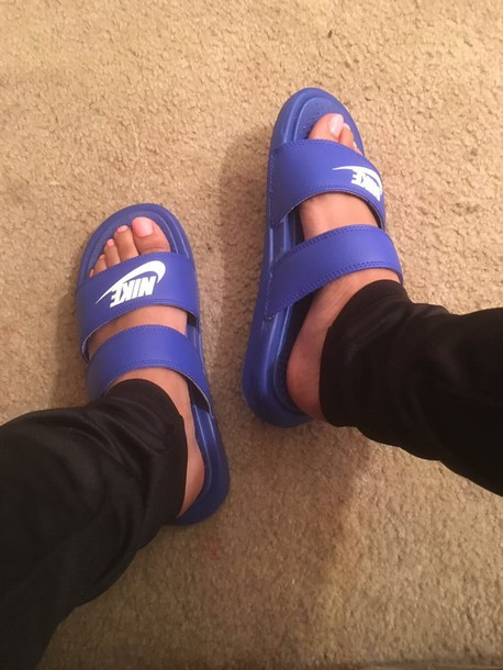 Shoes Nike Slides Two Strap Dope Shoes Wheretoget