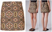 skirt,topshop,jacquard,folk,tapestry,doctor who,clara oswald