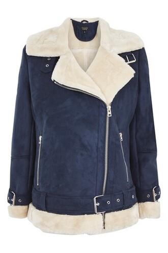 jacket biker jacket navy blue