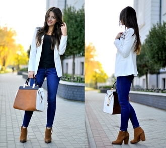 coat choies white coat blazer