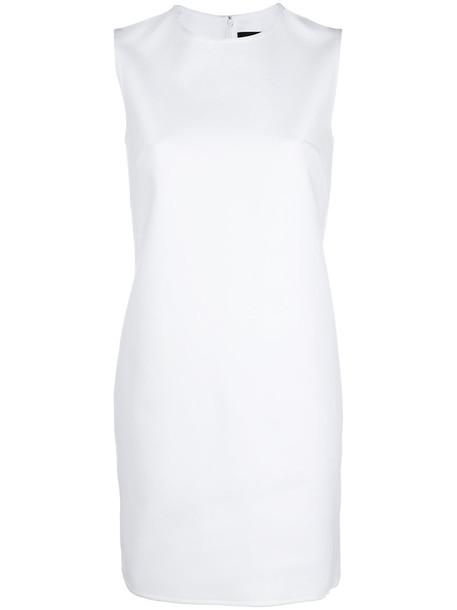 Dsquared2 dress shift dress sleeveless women spandex white cotton