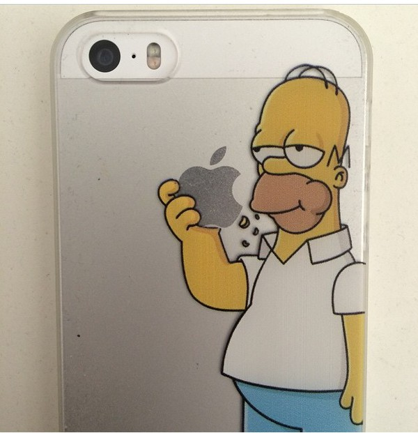 phone cover iphone 5 case iphone case iphone case the simpsons home accessory homer simpson apple eating logo the simpsons tumblr i phone iphone iphone cover i phone case iphone cover tumblr iphone cases