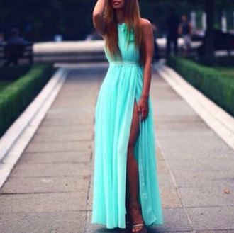 dress green maxi dress mint dress maxi dress mint gorgeous pink 2014 full length forever hill model heart ball sparkle sequin