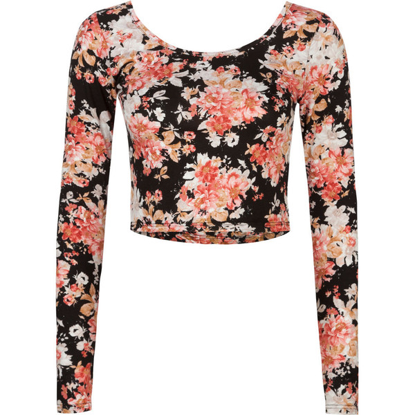 FULL TILT Floral Womens Crop Top - Polyvore